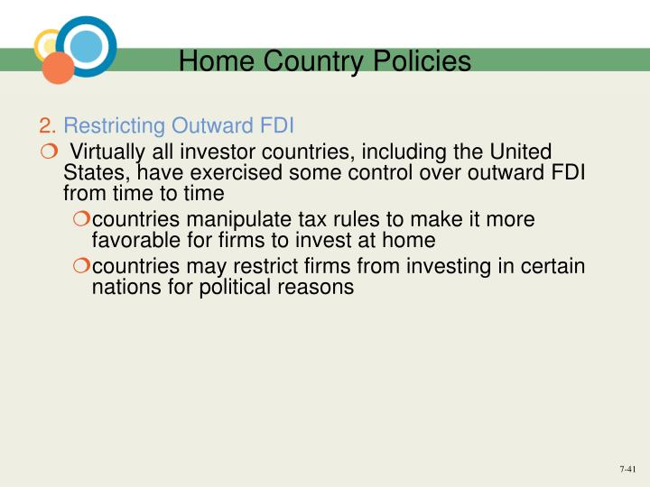 Home Country Policies