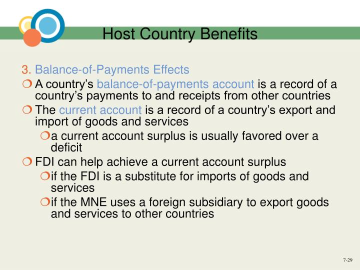 Host Country Benefits