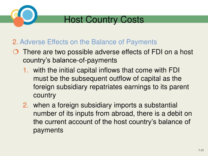 Host Country Costs