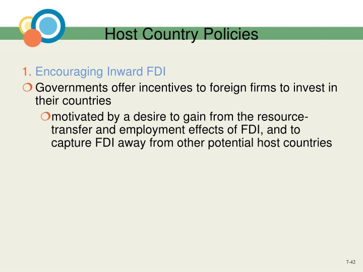 Host Country Policies