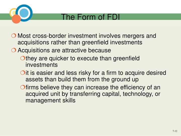 The Form of FDI