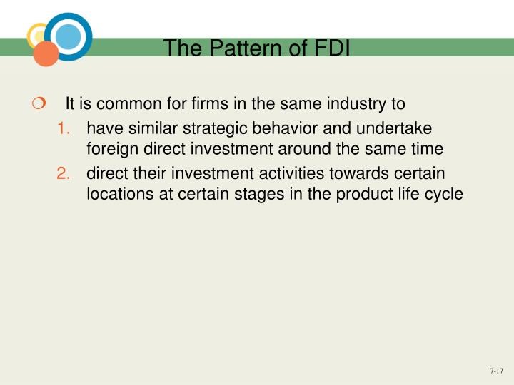 The Pattern of FDI