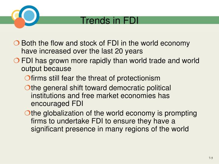 Trends in FDI