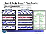 gen2 gen2a sigma pi flight results