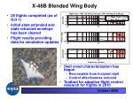 x 48b blended wing body