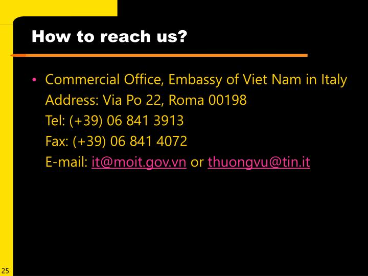 How to reach us?