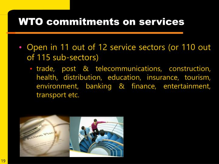 WTO commitments on services