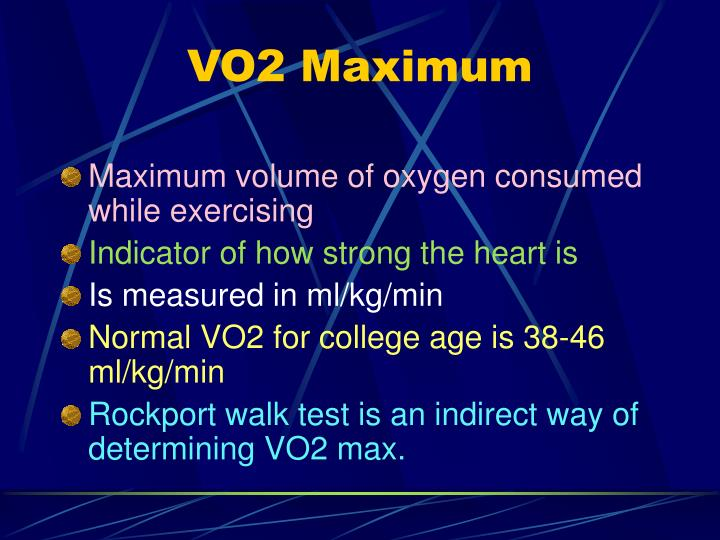 VO2 Maximum