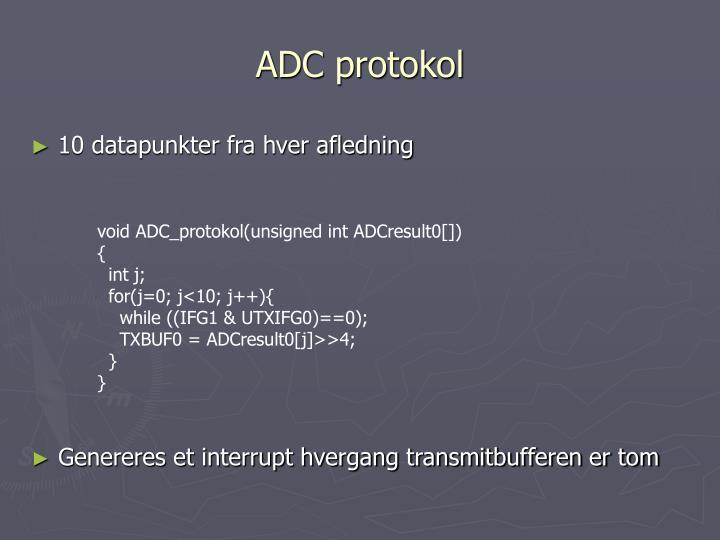 ADC protokol