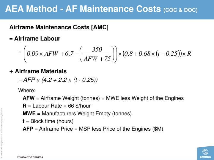 AEA Method - AF