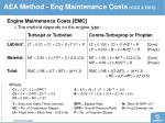 aea method eng maintenance cost s coc doc