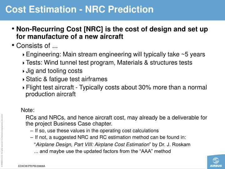 Cost Estimation - N
