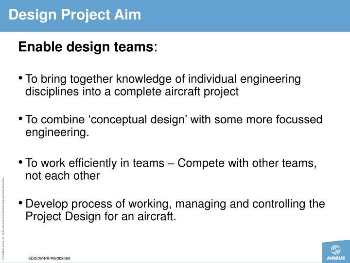 Design Project Aim