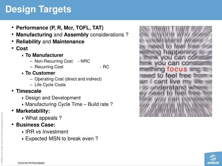 Design Targets
