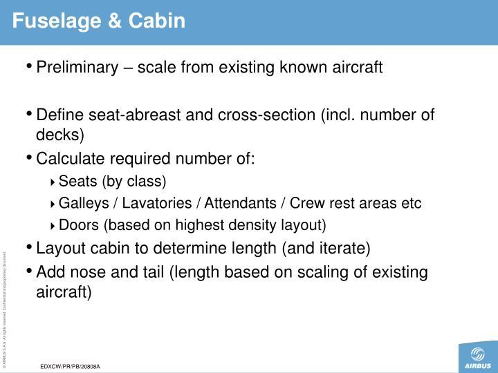 Fuselage & Cabin