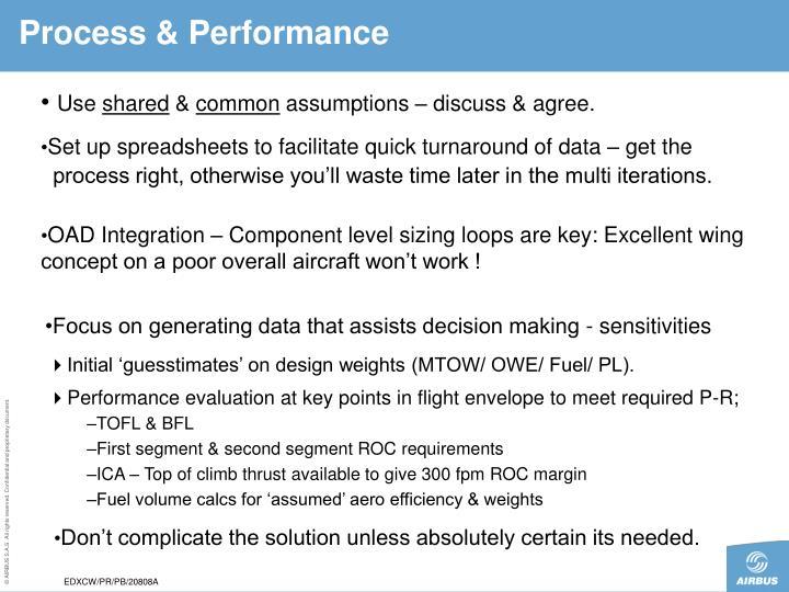 Process & Performance