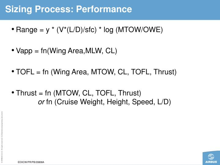 Sizing Process: Performance