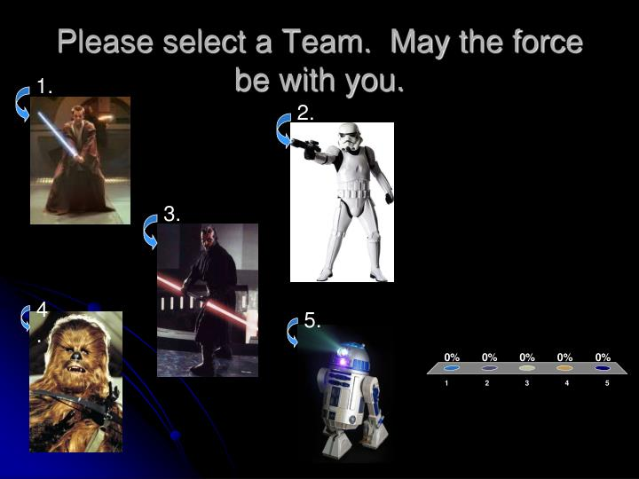 Please select a team may the force be with you