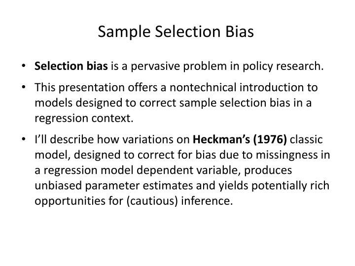 Sample Selection Bias