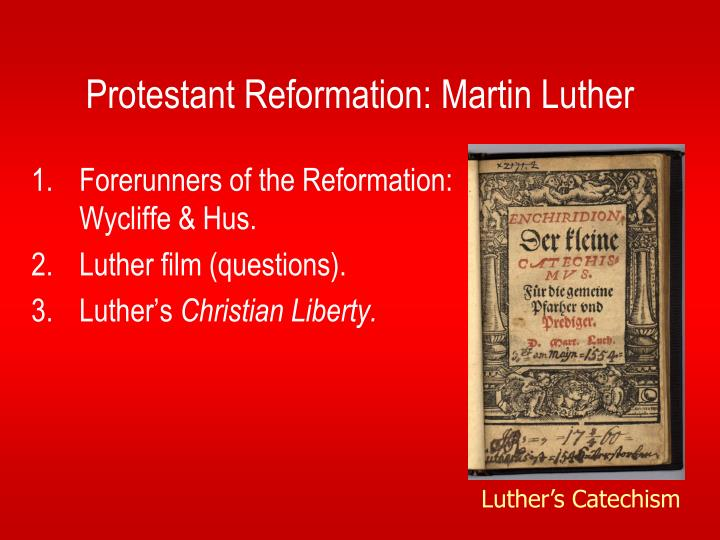 protestant reformation and martin luther
