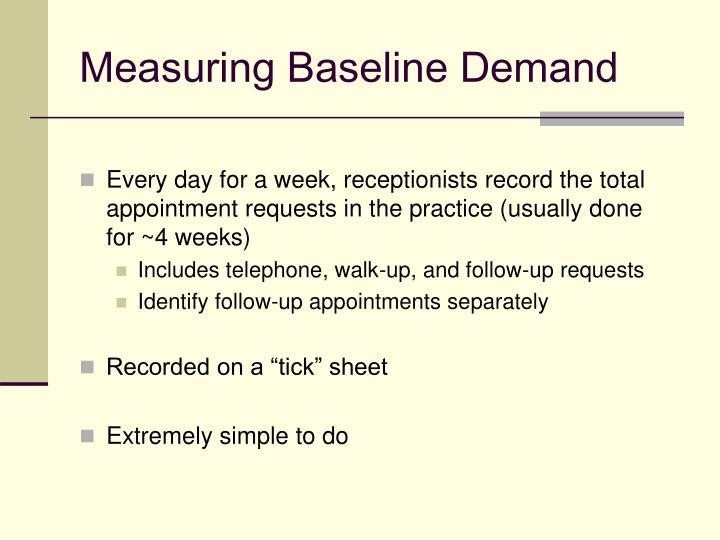 Measuring Baseline Demand