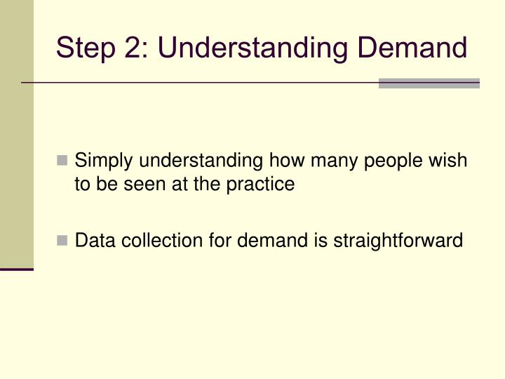 Step 2: Understanding Demand