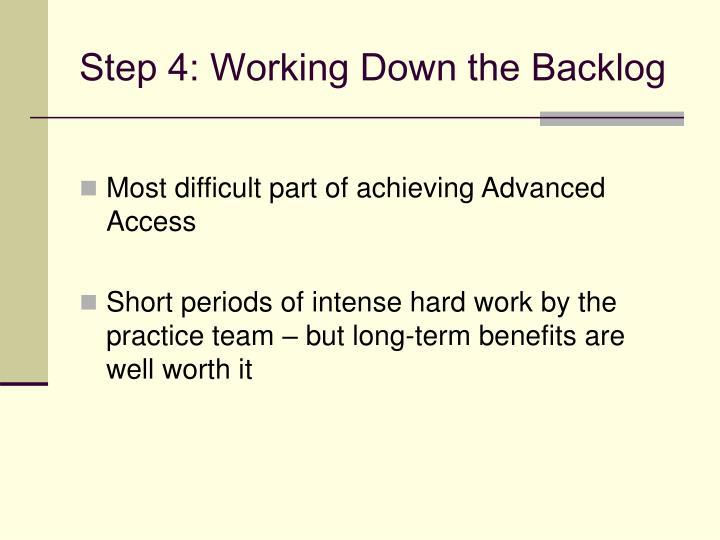 Step 4: Working Down the Backlog