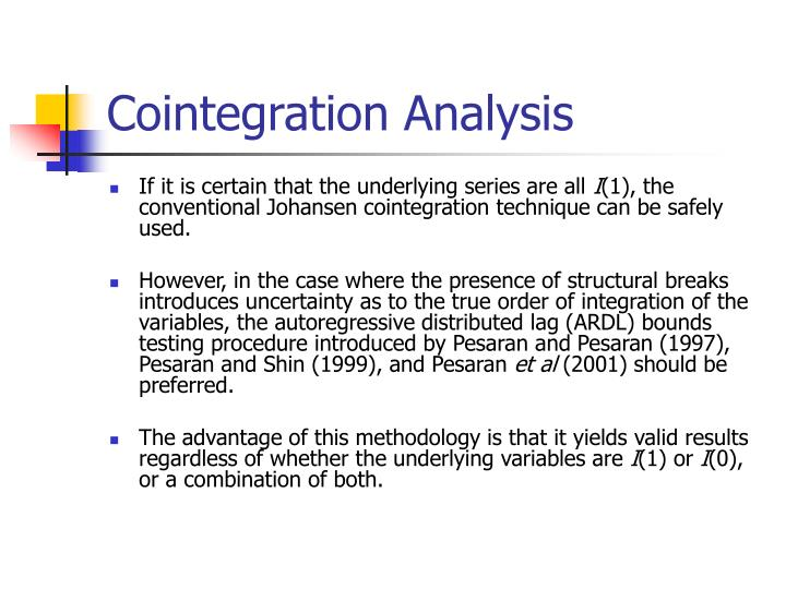 Cointegration Analysis