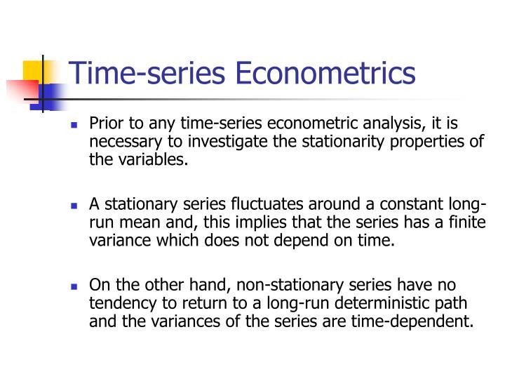 Time-series Econometrics
