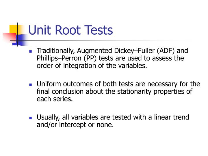 Unit Root Tests