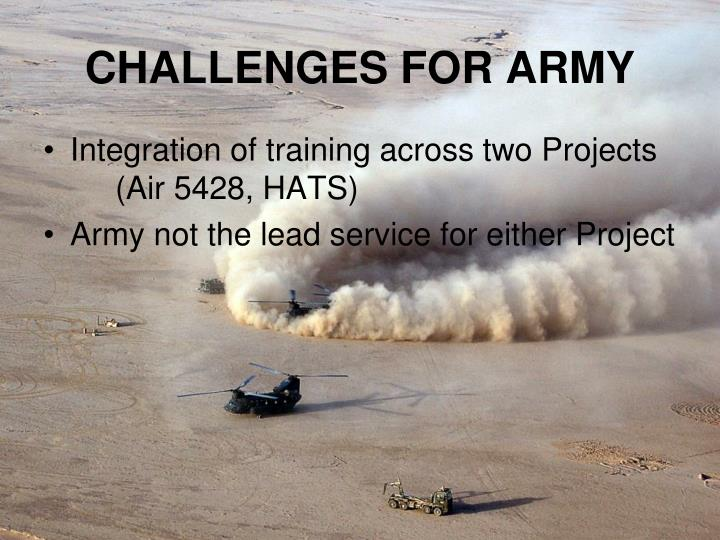 CHALLENGES FOR ARMY