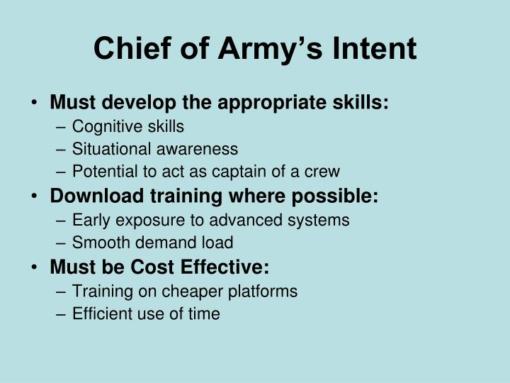 Chief of Army's Intent