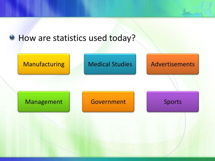 How are statistics used today?