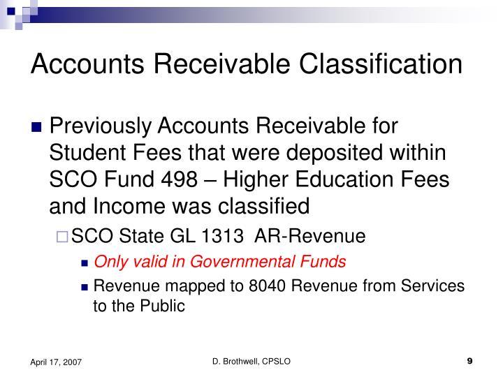 Accounts Receivable Classification