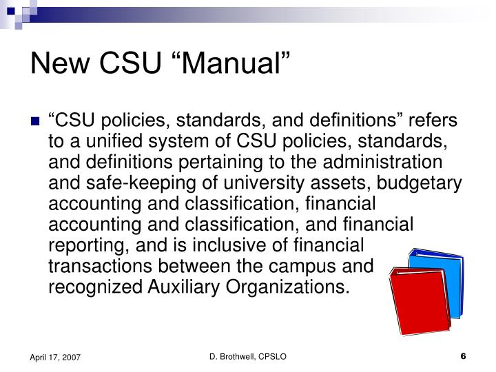 "New CSU ""Manual"""