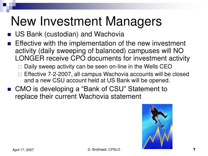 New Investment Managers