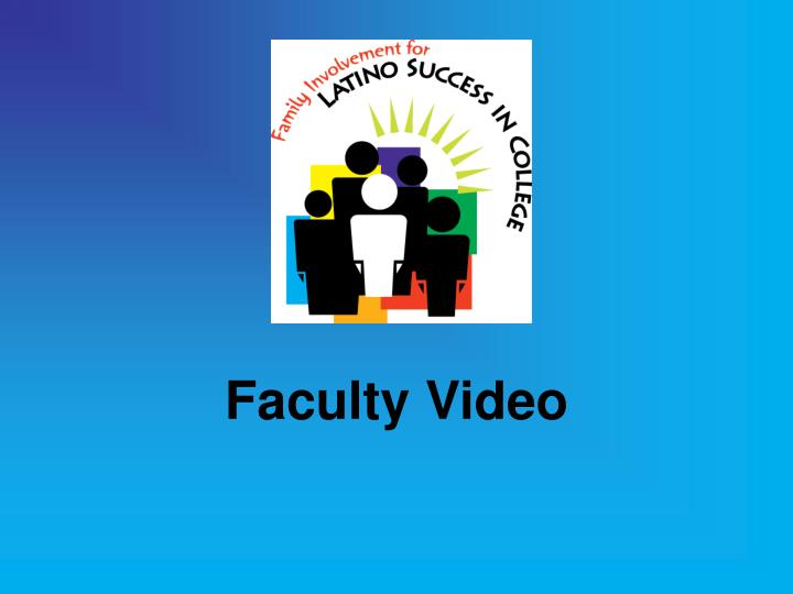 Faculty Video