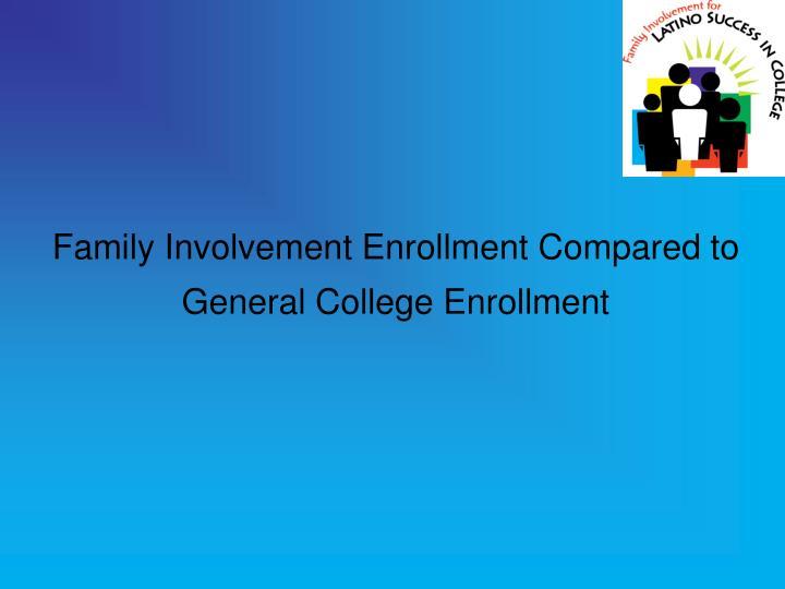 Family Involvement Enrollment Compared to