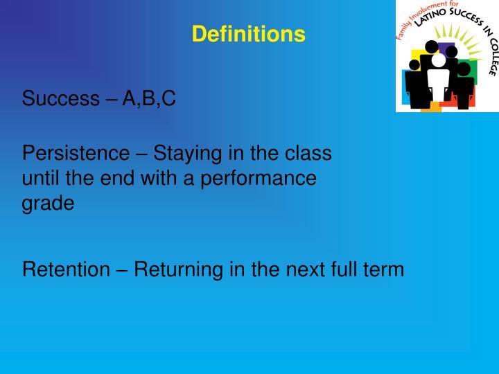 Success – A,B,C