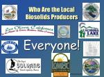 who are the local biosolids producers