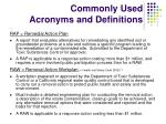 commonly used acronyms and definitions2