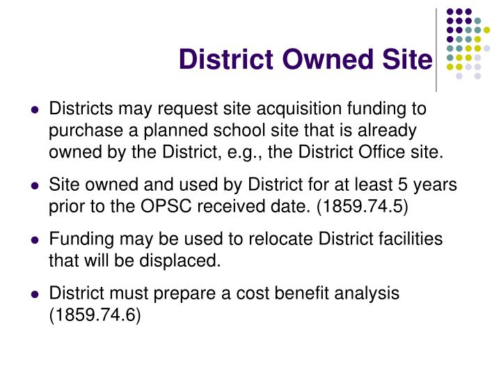 District Owned Site