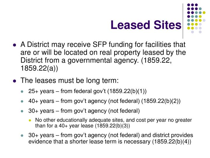 Leased Sites