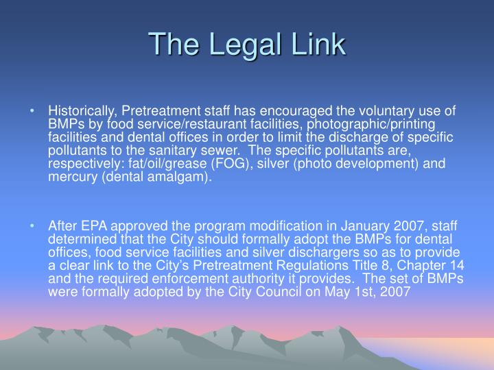 The Legal Link