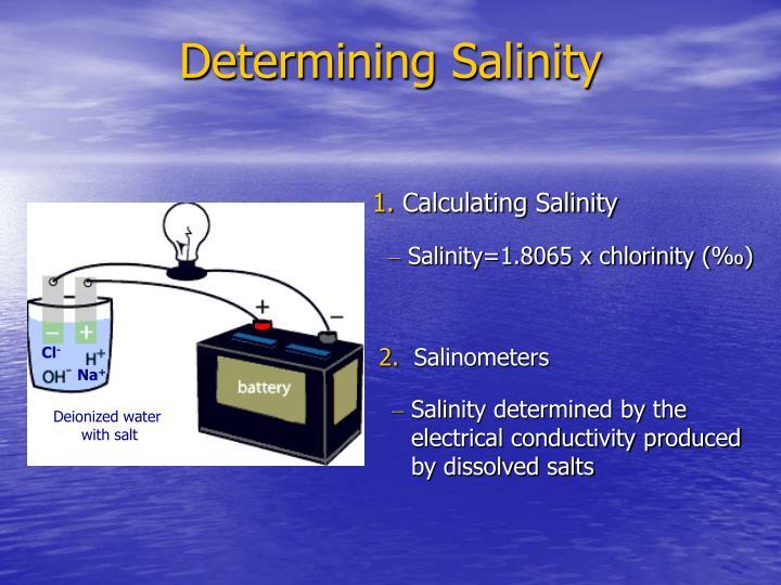 Determining Salinity