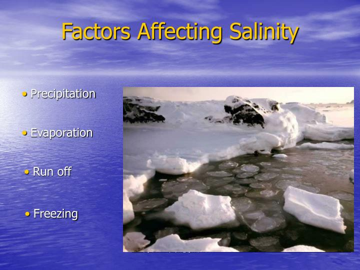 Factors Affecting Salinity