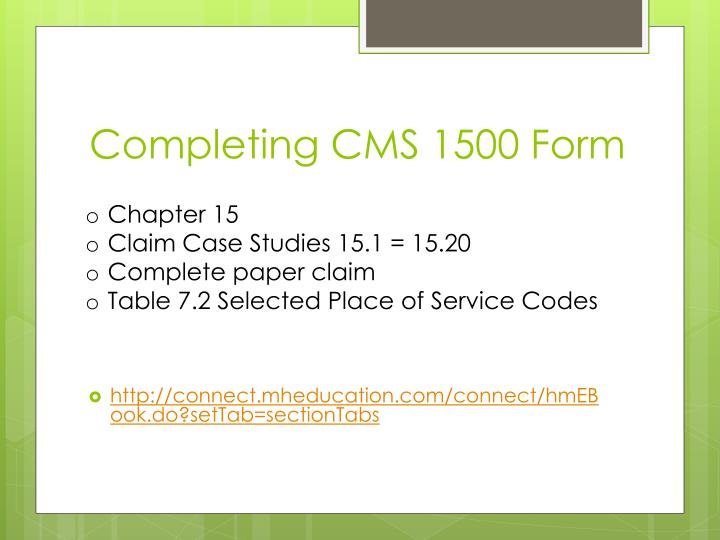 Completing CMS 1500 Form