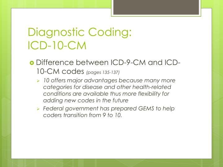Diagnostic Coding: