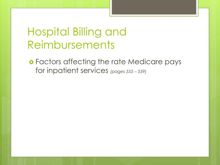 Hospital Billing and Reimbursements