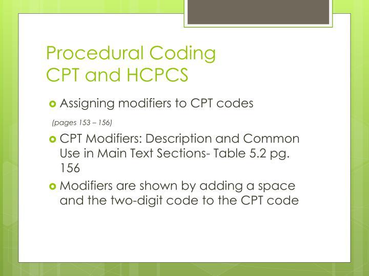 Procedural Coding